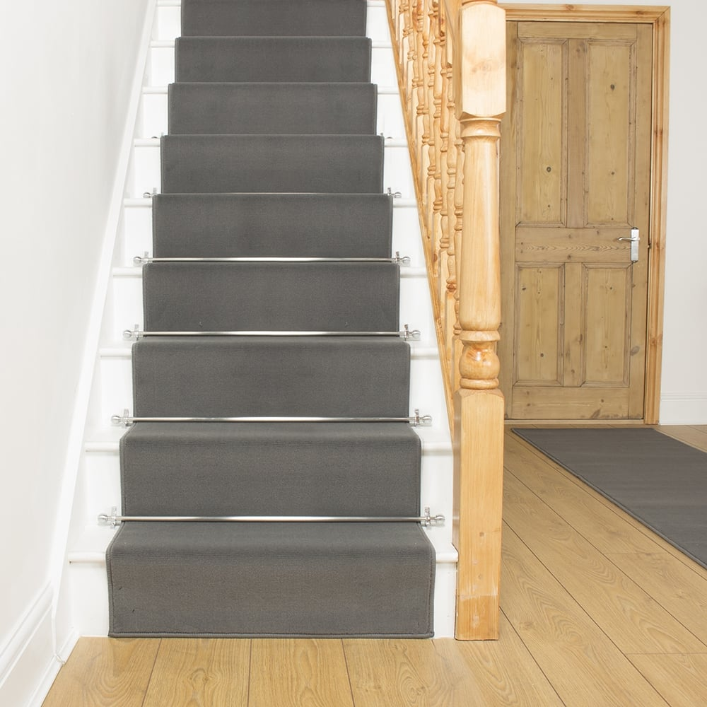 stair carpet plain light grey stair runner PZAODRV