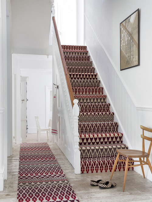 Stylish stair carpet