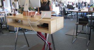 standing desk tv console hack. RJRAFCZ