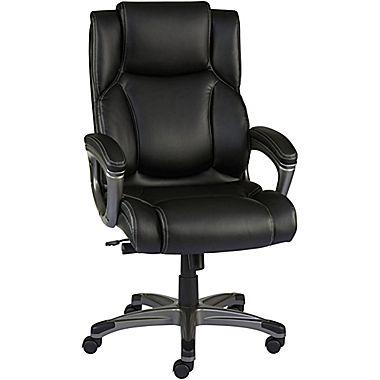 staples washburn bonded leather office chair, black VQFCPSA