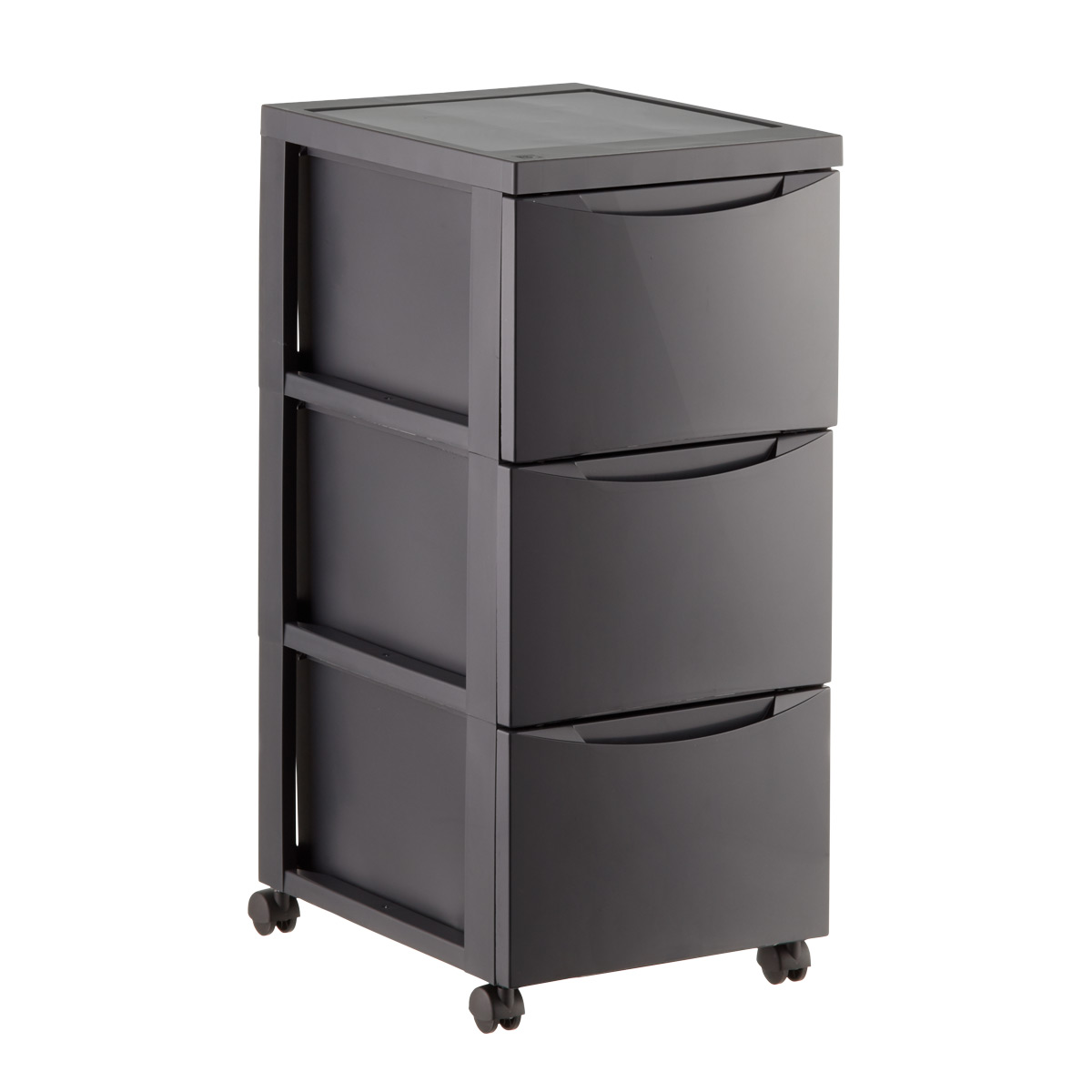storage drawers grey 3-drawer plastic storage chest with wheels ZBVQWAB