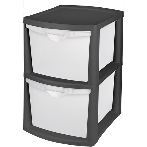 storage drawers sterilite 2-drawer bin storage, multiple colors SBVPVQR