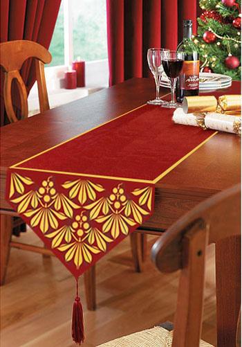 table runners the festive season WOQELHG