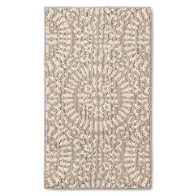 tan medallion kitchen rugs - threshold™ ASKKEQD