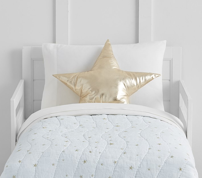 the emily u0026 meritt scattered stars organic toddler bedding | pottery barn UHFHRRN