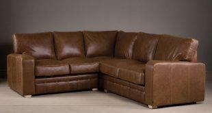 the square arm leather corner sofa QFKWSPW
