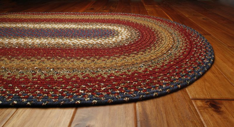 throw rugs homespice log cabin cotton braided area throw rug cottage home decor AUQNFKD