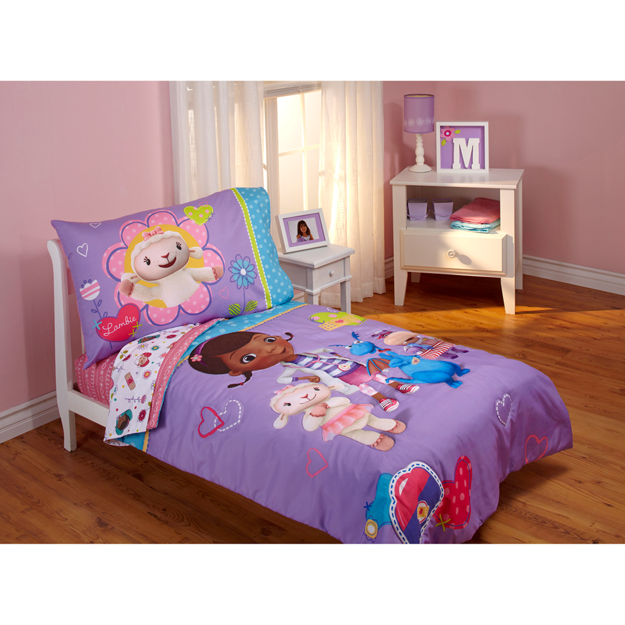 toddler bedding sets disney doc mcstuffins good as new 4-piece toddler bedding set JJJMATX
