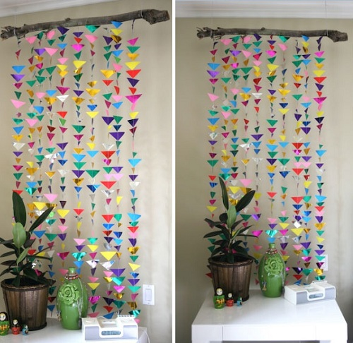 triangle curtain diy room decor BPTRPXH