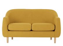 tubby 2 seater sofa, retro yellow VLKJVEB
