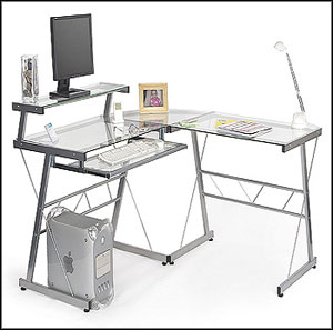 use of the glass computer desk in your office GTRQVAJ
