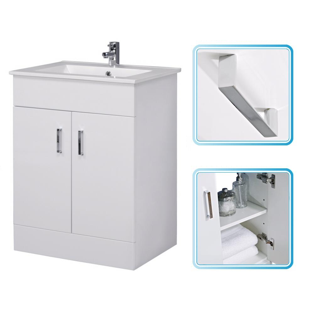 vanity units modern white gloss vanity unit 600mm - image 1 ARTXTZF