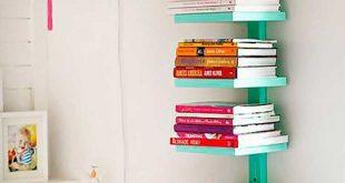 vertical bookshelf diy room decor BVYNERJ
