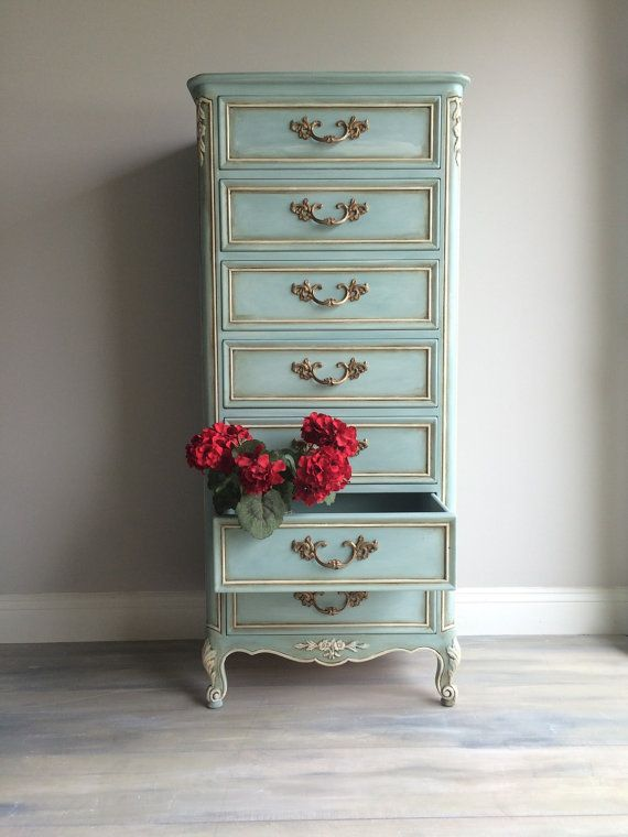 vintage furniture reloved vintage french provincial lingerie chest TSAYWGR