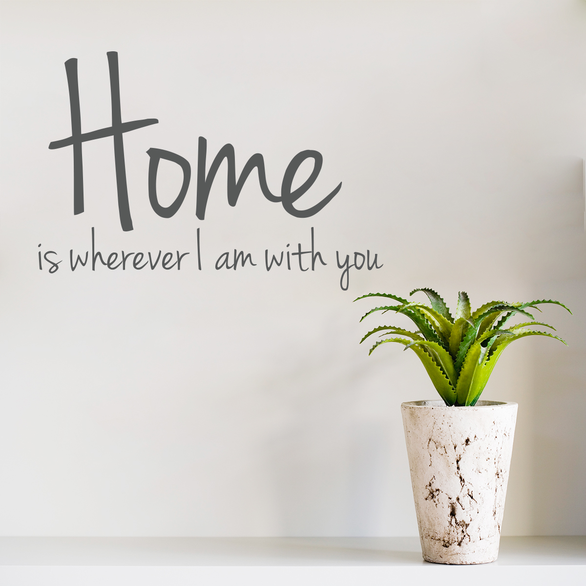 wall art decals home is wherever i am with you wall art decal ZAIATOI