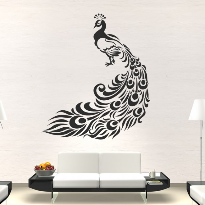 wall paintings peacock wall art - 5 peacock wall art - 5 ASZYLAP
