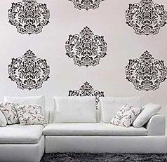 wall stencils damask-stencil FHZLCWU