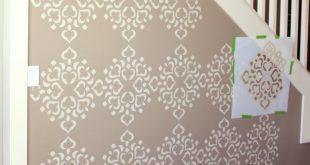 wall stencils extend design to wall edges UGPXKZL