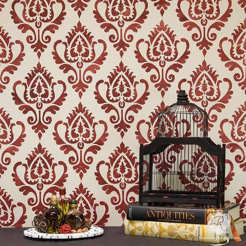 wall stencils ikat stencil pattern for painting walls and furniture - royal design studio TJYVMMO