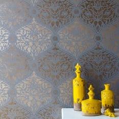 wall stencils royal design studio - mughal trellis moroccan wall stencil by royal design XOFRGDJ