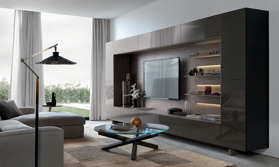 wall units view in gallery lovely underlit shelves add elegance to the gorgeous wall PUAVILJ