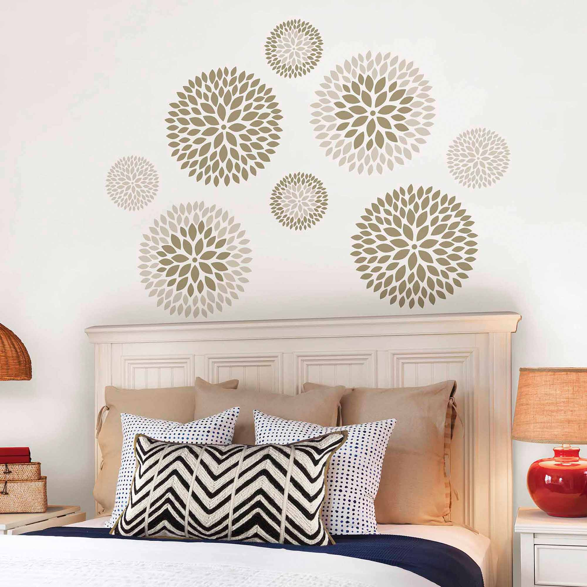 wallpops chrysanthemum wall art decals kit - walmart.com ZMQVGWU