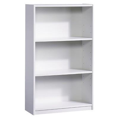 white bookcase 3-shelf bookcase white - room essentials™ MWNDCLM