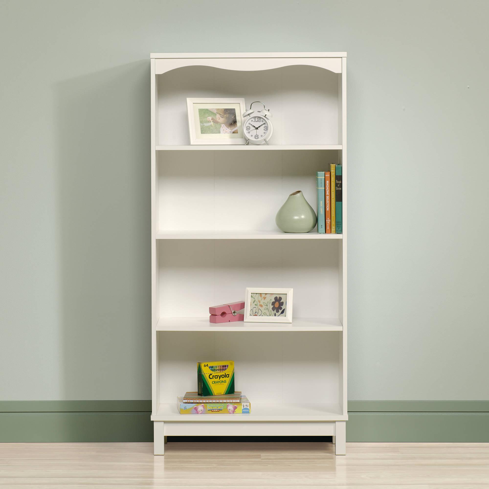 white bookcase sauder storybook bookcase, soft white QJUWGWN