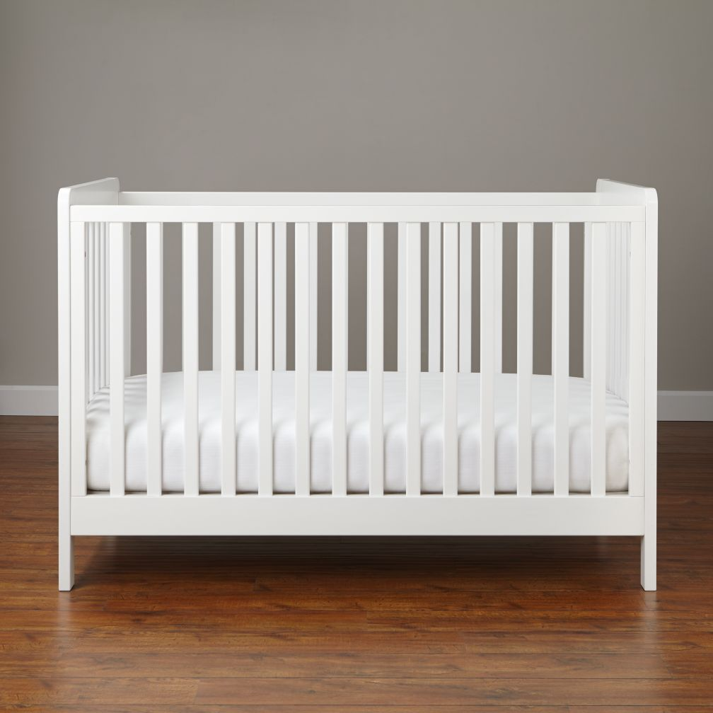 white crib carousel crib (white) | the land of nod XBHOOHX