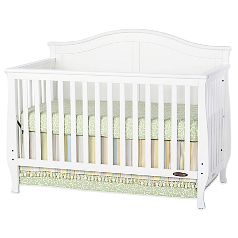 white crib child craft™ camden 4-in-1 convertible crib in white - buybuy baby XSWQFYV