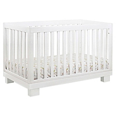 white crib image of babyletto modo 3-in-1 convertible crib in white AGEQCHT