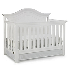 white crib image of ti amo catania 4-in-1 convertible crib in snow white UCWFQVR
