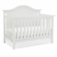 white crib ti amo catania convertible crib in snow white BQDDRCH