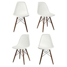 white dining chairs breezewood matte solid wood dining chair (set of 4) RMGERBY