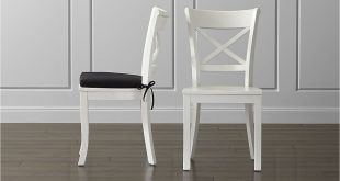 white dining chairs vintner white wood dining chair and cushion | crate and barrel YEZLUCU