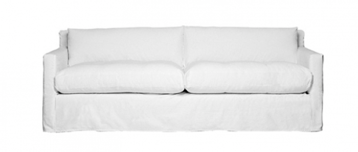 white sofa above: the geoffrey from montauk sofa is 95 inches long; $3,800. HREOUYT