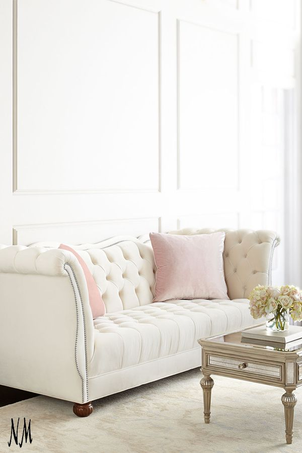 white sofa envelop yourself in elegance with this haute house gigi tufted sofa. HEYGSZJ