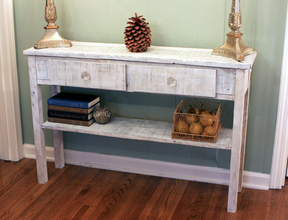 whitewashed sofa table. white hallway table. whitewash entry table. mother  of pearl DRVAEVZ