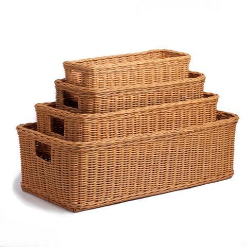 wicker baskets long low wicker basket QXSNQVL