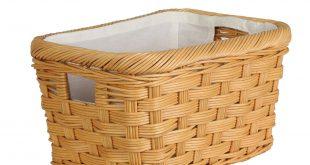 wicker baskets ... rectangular wicker storage basket in toasted oat size s from the basket DJQGFJQ