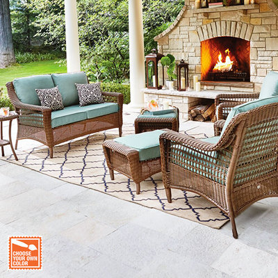 wicker outdoor furniture customize your patio set DCWBOME