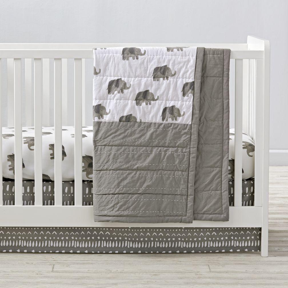 wild excursion elephant crib bedding | the land of nod CIEFXWV