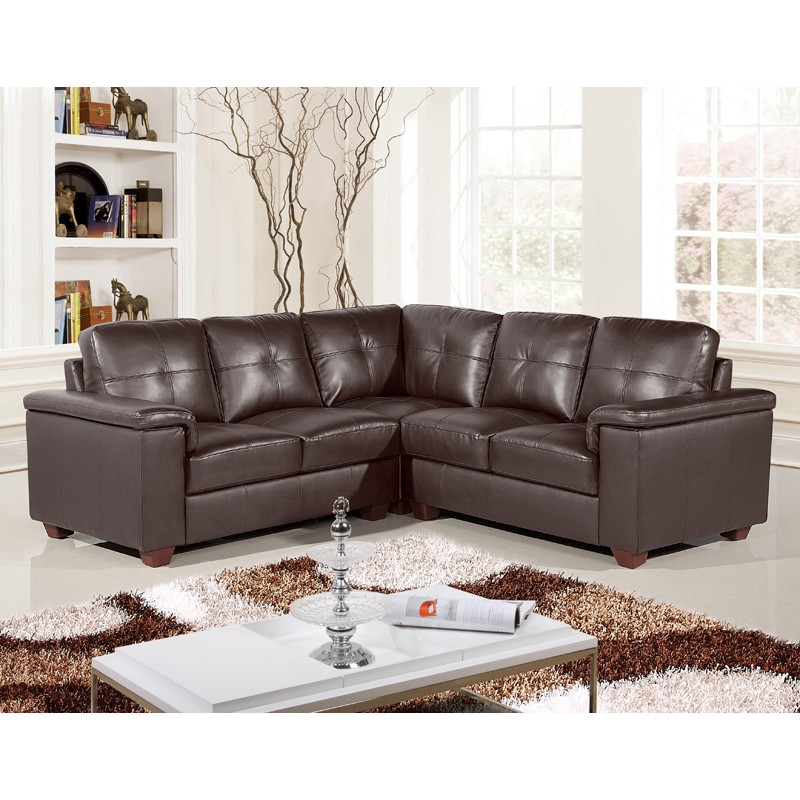 windsor 5 seater dark brown leather corner sofa MUZCXVH