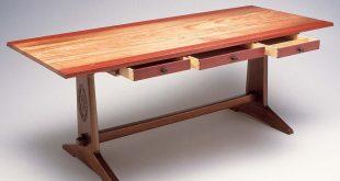 wood furniture 1. design and build a diy trestle table XPFPWUA
