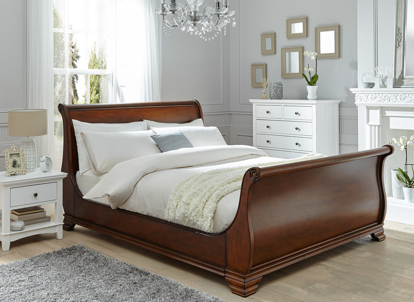 wooden beds orleans walnut wooden bed frame MSIICGD
