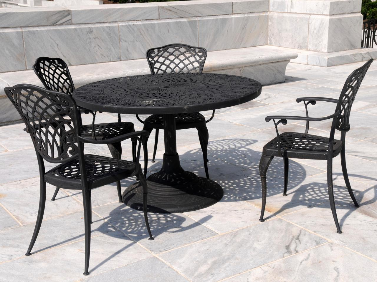 wrought iron patio furniture RQWDXRM