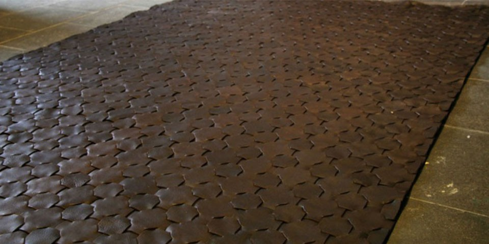 ... elvis and kresse brown leather rug (available in 3 different sizes) ... PFSVBRH