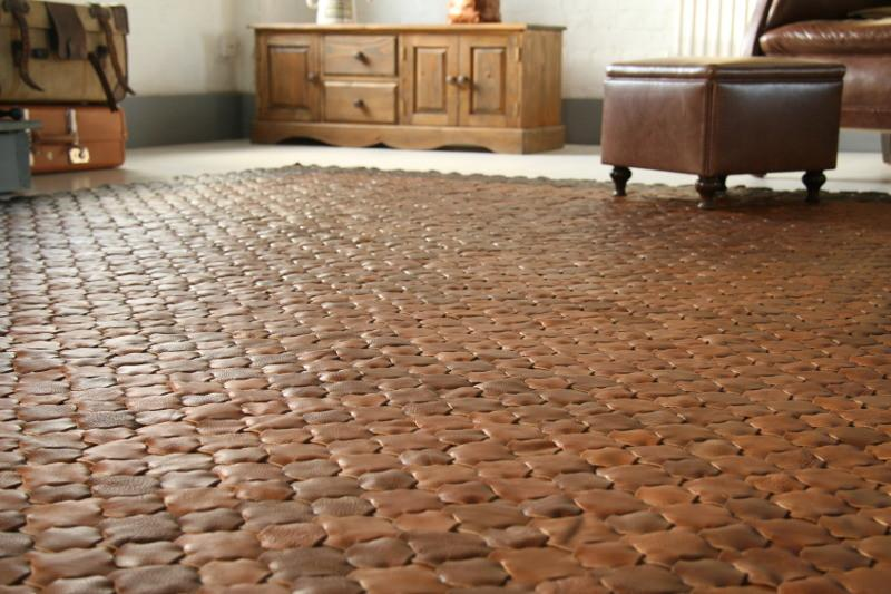 ... leather rug - elvis u0026 kresse ... GEFAKTD