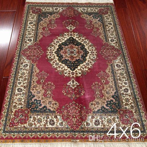 4x6 persian silk rugs handmade hand knotted oriental carpet living room  carpets JFPYGZH