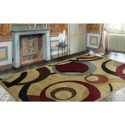 8×10 rugs contemporary abstract beige 8 ft. x 10 ft. area rug FOFICLI